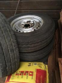 Vw t25 t3 standard steel wheels x4