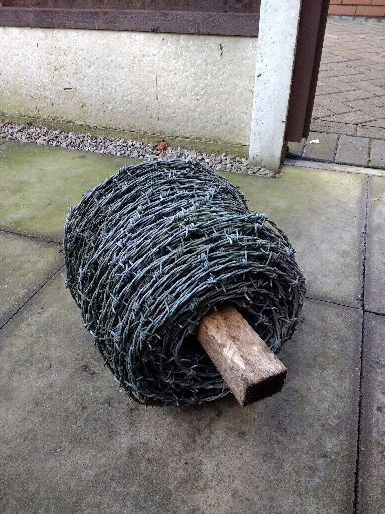 Barbed wire roll