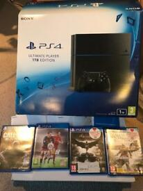 PS4 1TB ultimate player edition with 4 games 1 controller