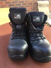 Work safety metal steel cap boots