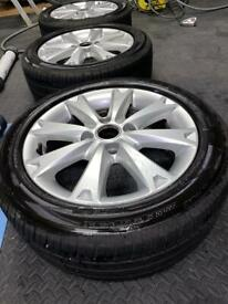 Ford Fiesta alloy wheels - Brand new tyres just been fitted