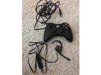 Xbox controller and headset