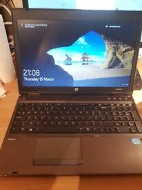GOOD SPEC HP PROBOOK CORE i5 6 gig MEM, 750 HDD WIN10 REFURB.15.6 INCH HD WIDESCREEN