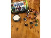 Skylanders portal, figures and storage bag