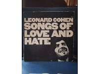 LEONARD COHEN - SONGS OF LOVE AND HATE - VINYL LP RECORD