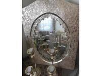 Mirror & candlesticks