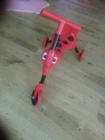skittle bug ladybird bike