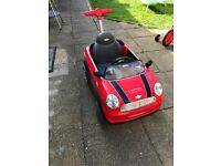 Mini Cooper Push Buggy In Red