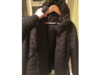Black H&M maternity coat