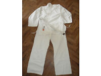 Karate Suit Uniform Gi with White belt. Childrens size approx 7 - 8yrs - Pokesdown BH5 2AB