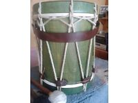 Rope tensioned drum