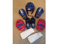 Top Ten Kickboxing - Child - Fight Headguard, Kicks, Gloves & Shin Pads
