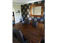 Next Dakota Dining room set for sale!!! Table, Chairs, Side cabinet and Mirror £150