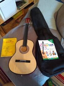 Guitar and case,books for sale
