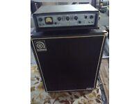 Ashdown ABM 300 + Ampeg 410HLF Bass Amp Rig