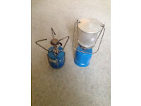 Camping Gaz stove and light