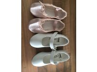 Childrens ballet and tap shoes size 7