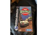Sega rally for the sega Saturn