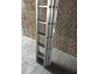Aluminum ladder three sections