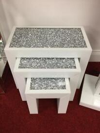 White gloss nest of tables