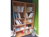Large wood effect office Bookcase / Large office Bookshelves 10 sections