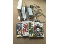 Nintendo Wii and 4 games