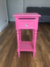 Pink statement side table