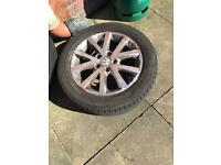 Genuine VW AUDI SKODA SEAT alloys 5x112 PCD with very good tires