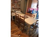 Farmhouse table 6 chairs