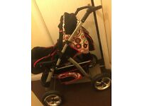Cheap pushchair with car seat set complete