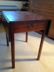 Occasional drop leaf table