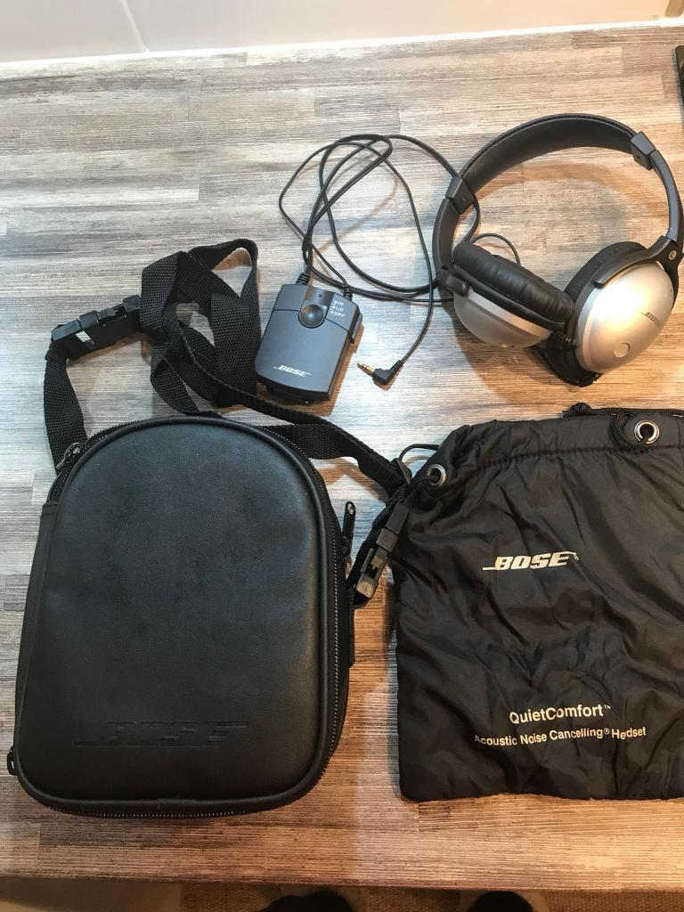 Bose Noise Cancelling QC-1 Wired Headphone and carry