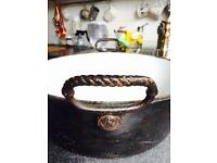 Antique Cast iron casserole pot by Pugh&Co