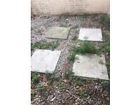 4 large garden Slabs