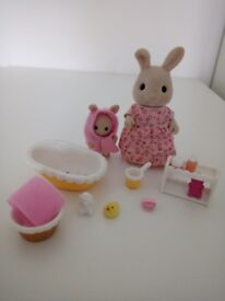 Sylvanian families Bath time for baby set