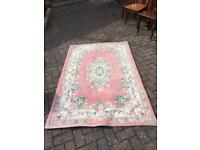 Pink Chinese rug