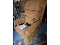 Rise and Recliner Chair. Tilt in Space .Nearly new. Dual Motor and Manual.
