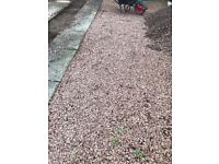 Red stone chips for driveway