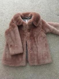 Girls Next faux fur coat age 5