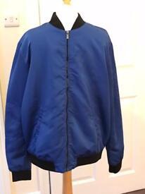 Zara men's blue bomber jacket