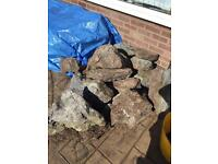 Garden rockery boulders - collection only