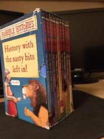 Horrible History book set. 9 books in total