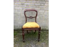VICTORIAN CHAIR BALLON FREE DELIVERY GOOD USED CONDITION VINTAGE ANTIQUE