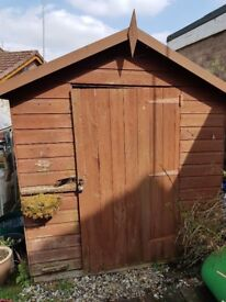 Garden shed 8x6 needs some attention but suitable for allotment