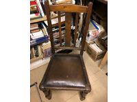Set of 4 matching Oak Dining / Kitchen Table Chairs for Up Cycling / Painting