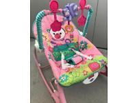 Fisher-Price Rainforest Baby Rocker in Pink