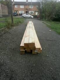 3x3 timber posts
