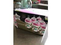 Brand new Tommee Tippee Closer to Nature Bottles (pink)