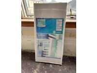 Brand new Homebase heated towel rail radiator 420x900mm white enamel finish