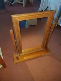 Pine dressing mirror